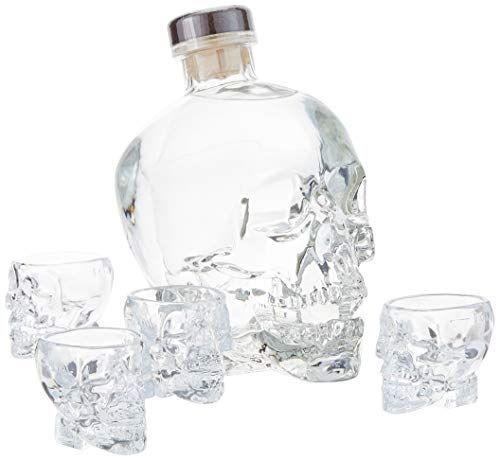 水晶头伏特加0.7升 - 礼品套装包括4个酒杯。