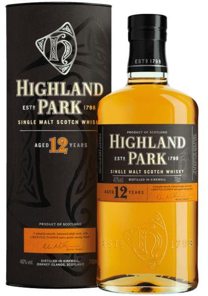 Whisky escocés Highland Park 12 años de malta única