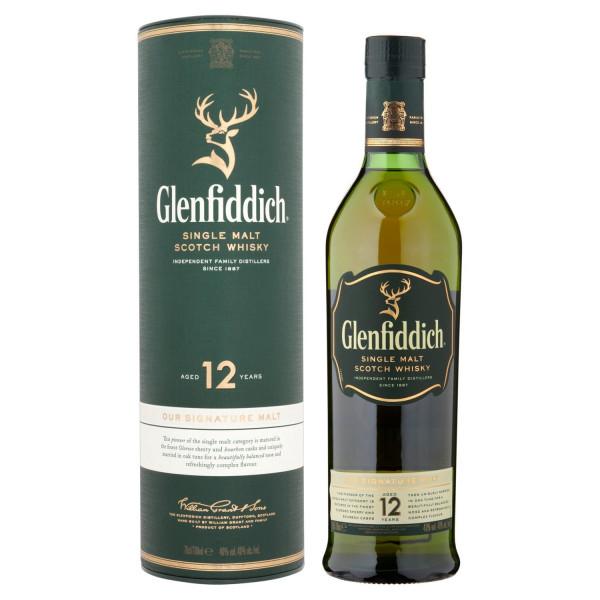 Whisky escocés Glenfiddich 12 años de malta única