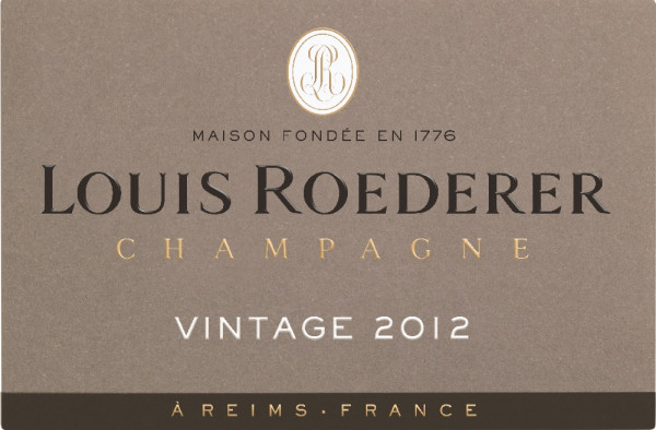 Louis Roederer Label Vintage 2012