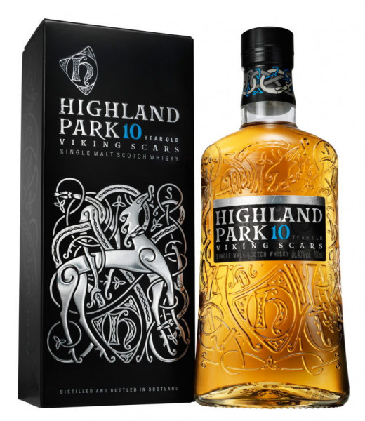 "Highland Park ""Viking Scars"" 10 Years Single Malt Scotch"