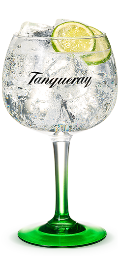 Tanqueray Gin Tonic in a glass