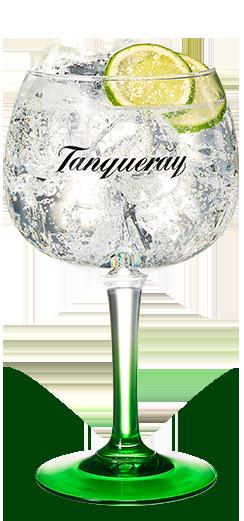 Gin Tonic Tanqueray dans un verre