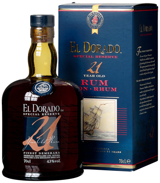 El Dorado 21 Years Old Special Reserve Rum 43%, 0,7 l + GB